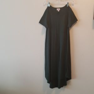 Hunter green long lularoe dress